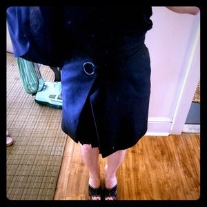 Black Peekaboo Skirt
